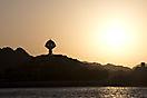 Wahrzeichen von Muscat bei Sonnenuntergang