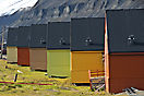 Holzhäuser in Longyearbyen
